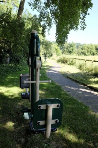 Exercise equipment next to the footpath to Bowen's Field
