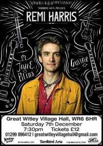 Remi Harris at Great Witley Village Hall @ Great Witley Village Hall
