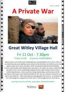 film night @ Great Witley Village Hall